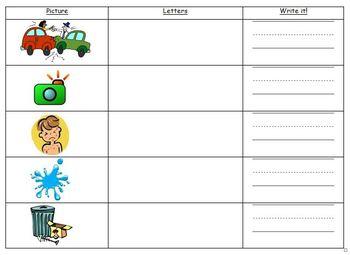 Complex CVC Word Families - Word building, practice, homework, tests