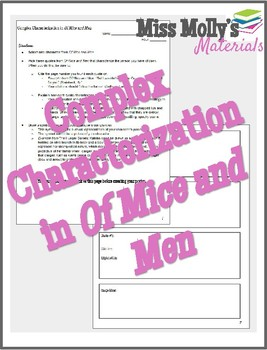 Complex Characterization in Of Mice and Men (Symbolic Poster)