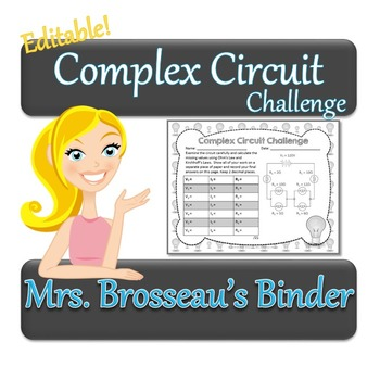 Complex Circuit Challenge - Ohm's Law & Kirchhoff's Law in Mixed Circuits
