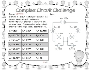Complex Circuit Challenge Ohm S Law Amp Kirchhoff S Law In