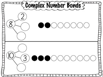 Complex Common Core Number Bond Practice Pages