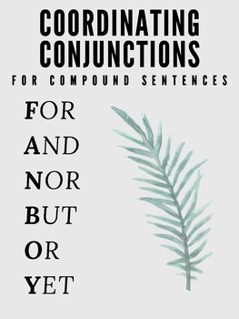Complex / Compound Sentence Posters