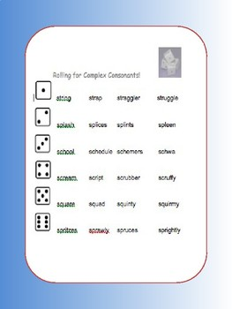 Complex Consonant Game