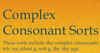 Complex Consonants Sort
