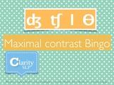 Complex Final Consonant Contrast Bingo