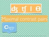 Complex Final Consonant Contrast Pairs