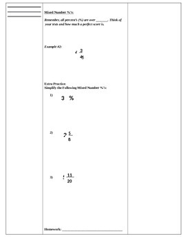 Complex Fractions Cornell Notes (7.RP.1, 7.NS.3; Mathematical Practices 1, 3, 4)