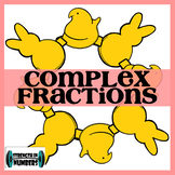 Complex Fractions Easter Peeps Self-Checking Wreath (Spring)
