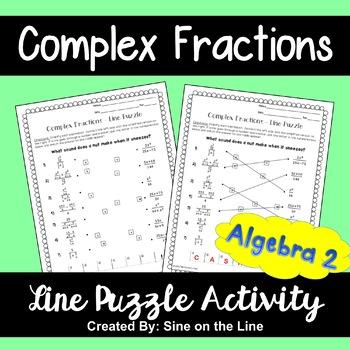 Complex Fractions: Line Puzzle Activity