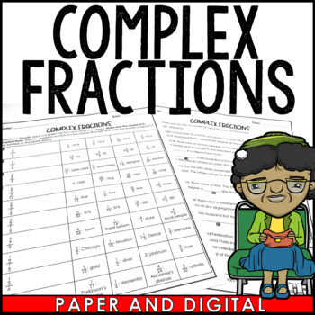 Complex Fractions to Unit Rates Story Activity