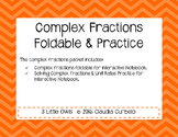 Complex Fractions Student Interactive Notebook