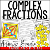 Complex Fractions to Unit Rates Activity Pack | Distance Learning | Digital