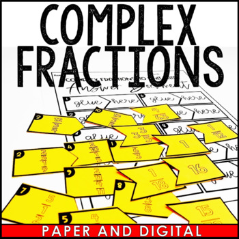 Complex Fractions to Unit Rates Matching Activity