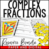 Complex Fractions to Unit Rates Lesson Bundle | Distance Learning