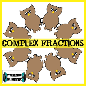 Complex Fractions + word problems Self Checking Fall OWL Wreath