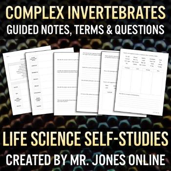 Complex Invertebrates Guided Notes / Self Study