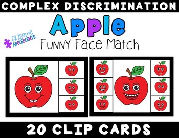 Complex Matching Discrimination Clip Cards- Fall Funny Faces