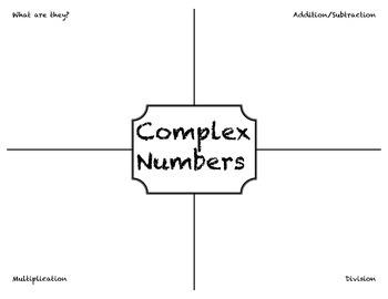 Complex Number Graphic Organizer