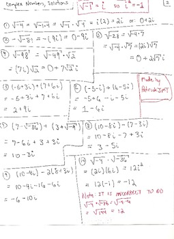 Complex Numbers : Adding, Subtracting, Multiplying, Dividing