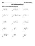 Complex Numbers, Exponent Rules, and Intro to Logs