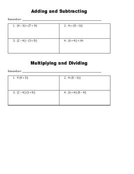 Complex Numbers INB Notes