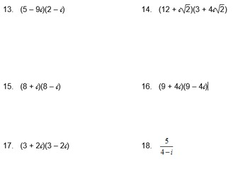 Complex Numbers Multi-Pack Bingo, Test, Notes, Matching