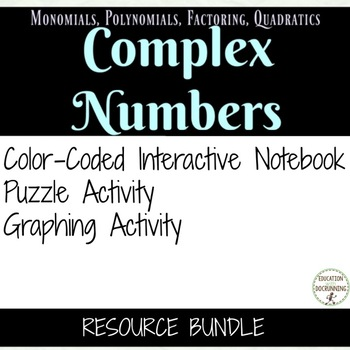 Complex Numbers Notes and Activty Bundle