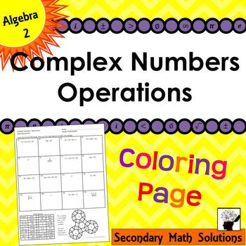 Complex Numbers Operations Coloring Activity (2A.7A)