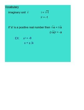 Complex Numbers Part 2 SmartBoard Lesson