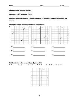 Complex Numbers Practice