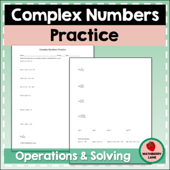 Complex Numbers Practice (Imaginary Numbers)