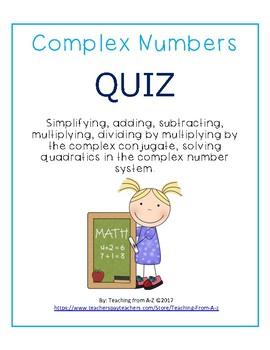 Complex Numbers Quiz