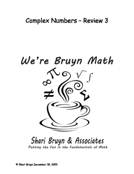 Complex Numbers - Review 3