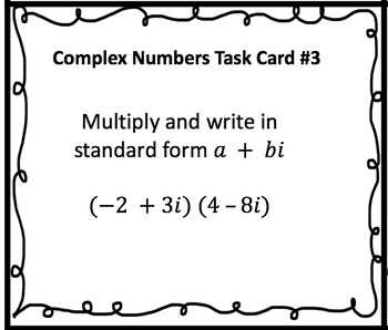 Complex Numbers Task Cards