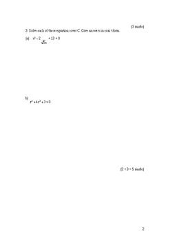 Complex Numbers Test