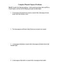Complex Punnett Square Word Problems