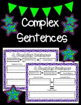 Complex Sentences Graphic Organizers