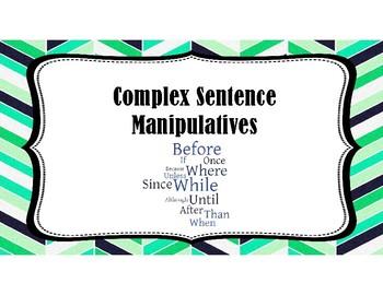 Complex Sentence Manipulatives