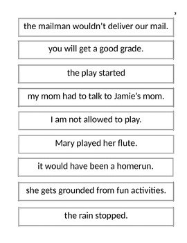 Complex Sentence Match-Up