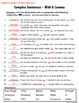 Complex Sentence Notes and Practice Pages