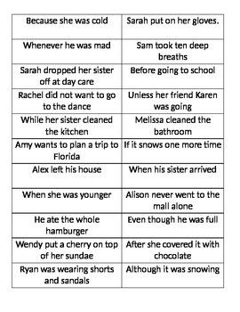 Complex Sentences Practice