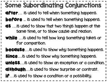Complex Sentence Sort, Set 2