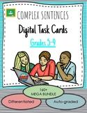 Complex Sentences DIGITAL Boom! Task Cards - Literature-Ba