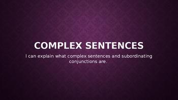 Complex Sentences PowerPoint