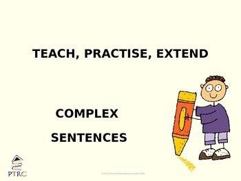 Complex Sentences Teaching PowerPoint