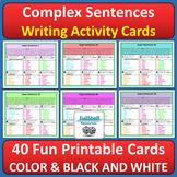 Complex Sentences Activity Cards