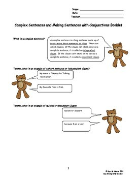 Complex Sentences and Conjunctions