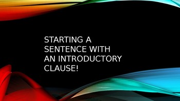 Complex Sentences starting with AAAWWUUBBISS words PPT