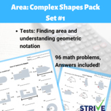 Complex Shapes Area Practice Pack 1