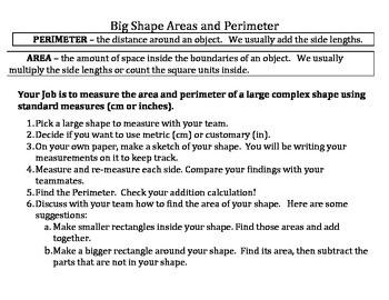 Complex Shapes - Area and Perimeter